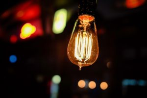 Lightbulb to illustrate creative outputs and achievement