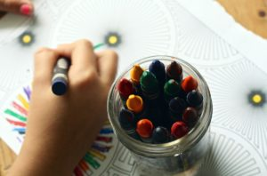 increase creative output - someone drawing and coloring